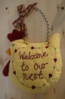 Welcome to our nest - Fabric Hanger